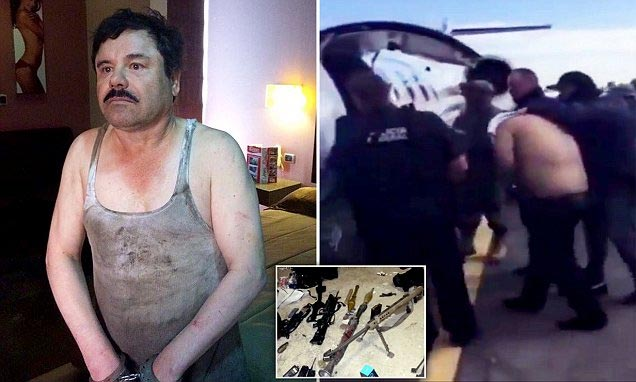 Re-arrested Drug Baron El Chapo Returns To Prison Where He Escaped From