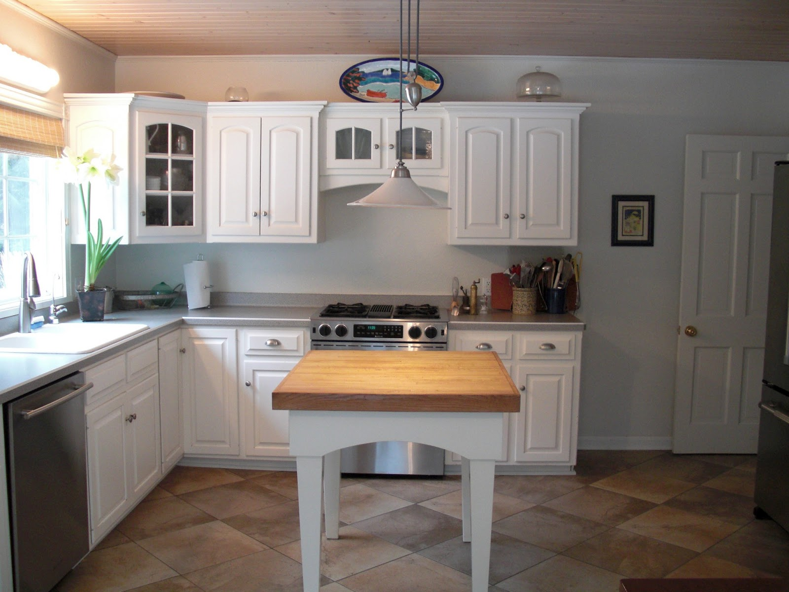 This Was After We Put In The Tile Floor And Replaced The Appliances But  Before I Painted The Ceiling.