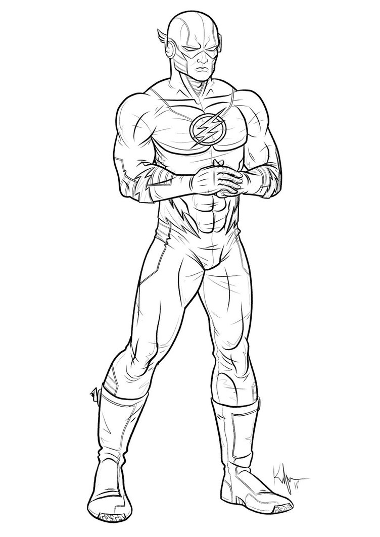Download Superhero Flash Coloring Pages