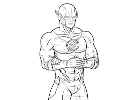 Flash Superhero Coloring Pages Free