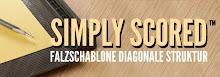Simply Scored Falzschablone Diagonale