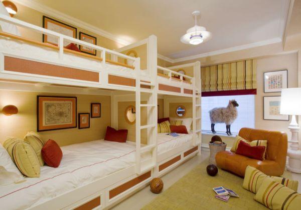4 camas en un dormitorio dormitorios con estilo for Camas para chicos
