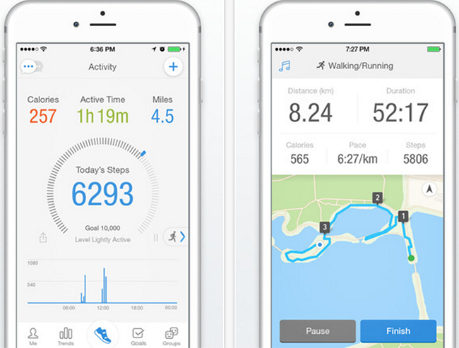 Pedometer App for iPhone