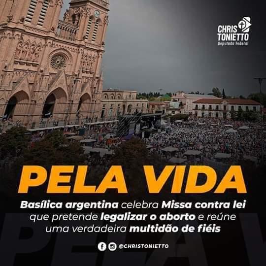 Argentina celebra Missa contra o aborto