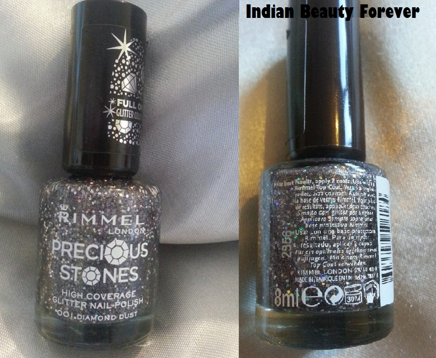 Rimmel London Precious Stones Glitter Nail Polish Review