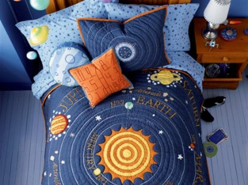 Dirtbin designs boys space and solar system bedroom ideas - Solar system decorations ...