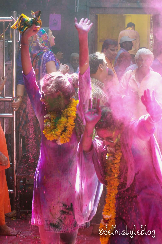 Holi at Banke Bihari Temple