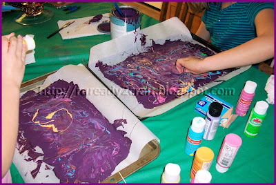Creating and Making Paint Skin Tiles for DIY crafts