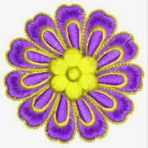 kulturele blomme borduurwerk appliekwerk ontwerp