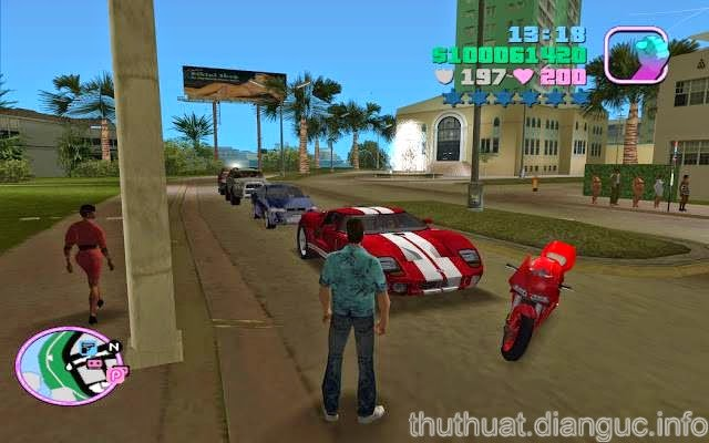 Mã Cheat GTA Vice City, hack bất tử GTA Vice City