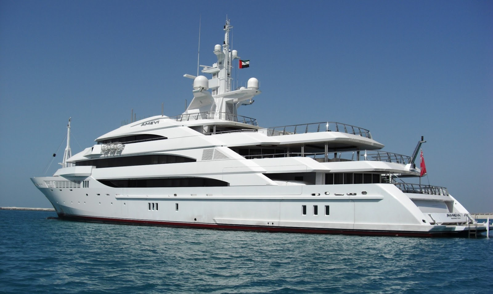 Superyacht AMEVI Port Side