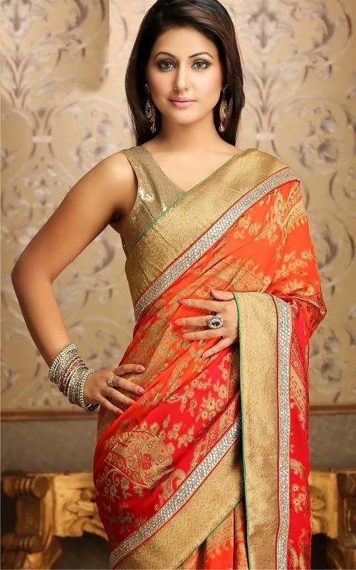 Hindi Serial Actress Hina Khan In Sarees And Lehenga Collection 2013 Photos Image