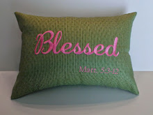 BLESSED - lime diamond pattern