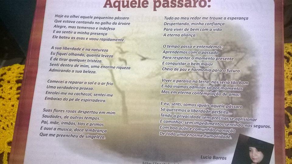 Poema editado: REVISTA GUARANI.