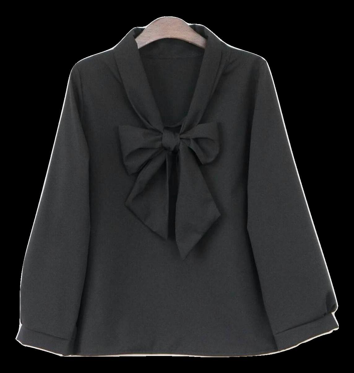 เสื้อแฟชั่นสีดำ แฟชั่นสไตล์เกาหลี ขายส่งราคาถูก