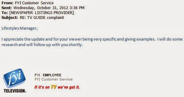 Response to lifestyles manager