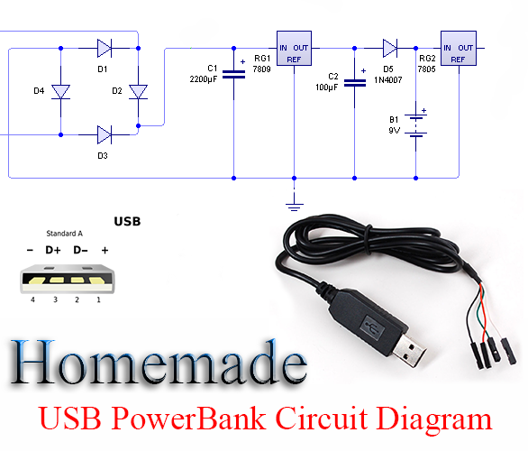Power Bank USB Circuit Diagram on light ballast wiring 8 get free image about