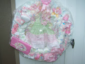 GIRL BABY DIAPER WREATHS