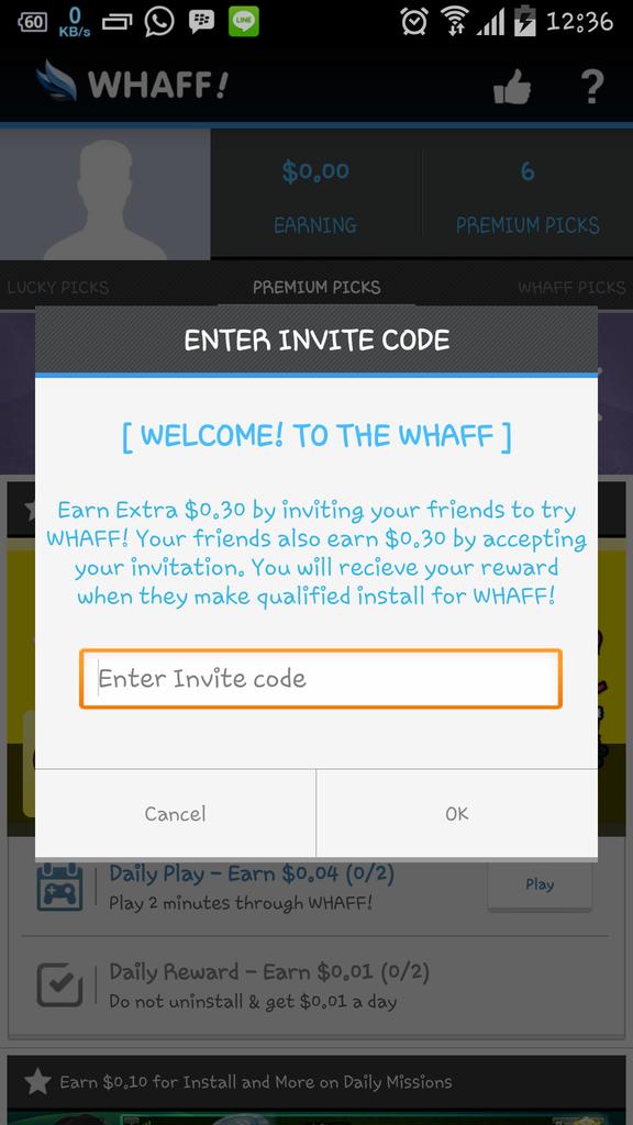 cara kerja whaff rewards