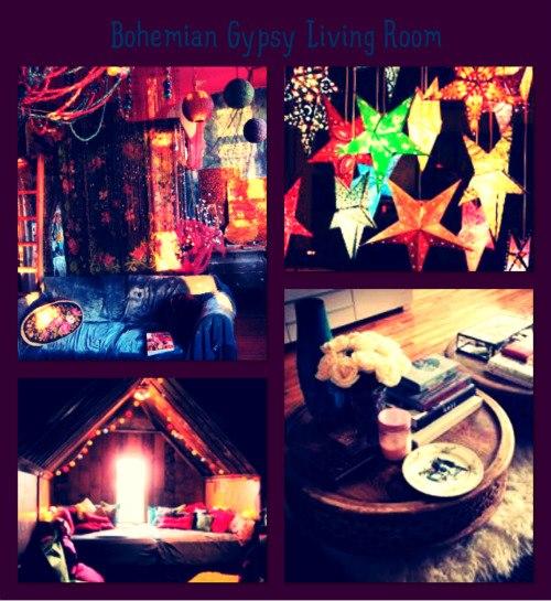 Twilight Moon Bohemian Gypsy Living Room Inspiration