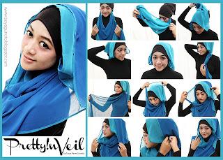 Tutorial Jilbab Twoface