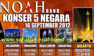 Konser NOAH Band di 5 Negara dalam 1 hari