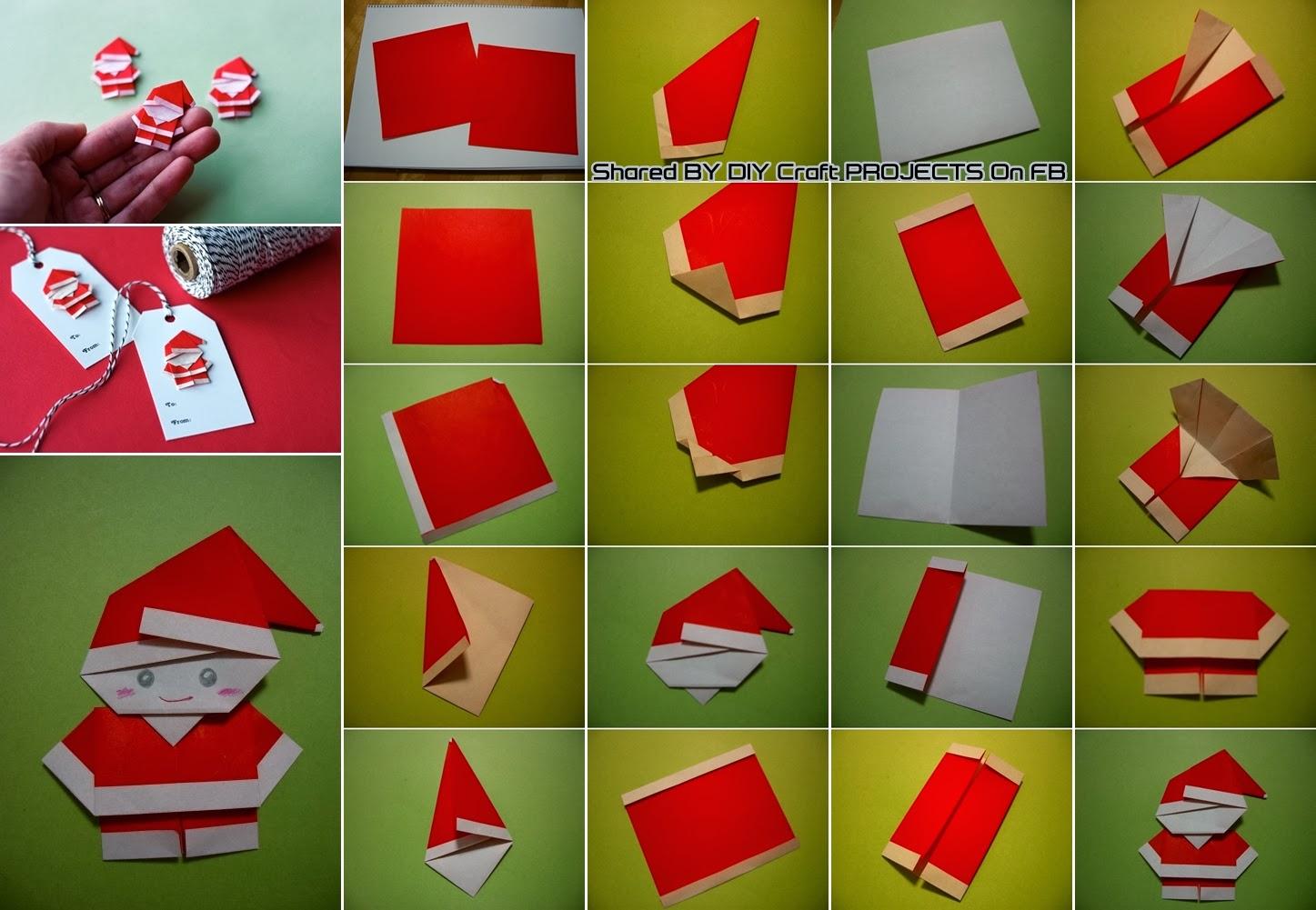 diy origami santa diy craft projects. Black Bedroom Furniture Sets. Home Design Ideas