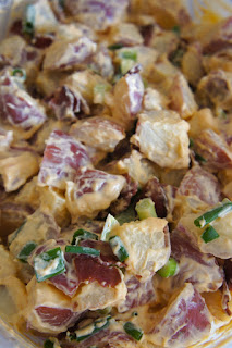 Bacon Sriracha Potato Salad: Savory Sweet and Satisfying