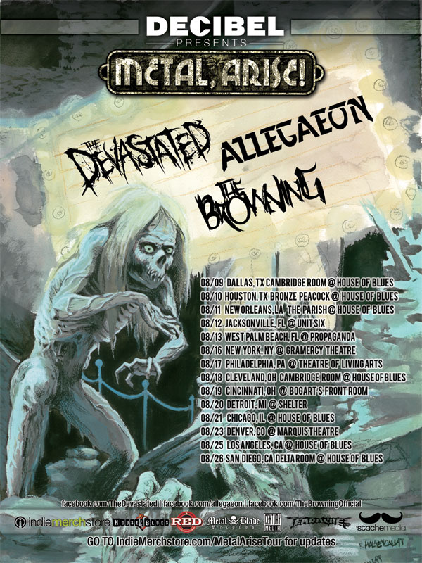 Metal, Arise! Tour featuring Allegaeon, The Devastated, and The Browning