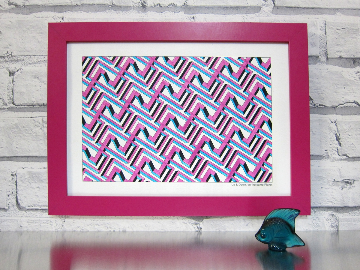 09-Framed-Drawing-Designstack-Optical-Illusions-and-Impossible-3D-Coloring-Collection-www-designstack-co