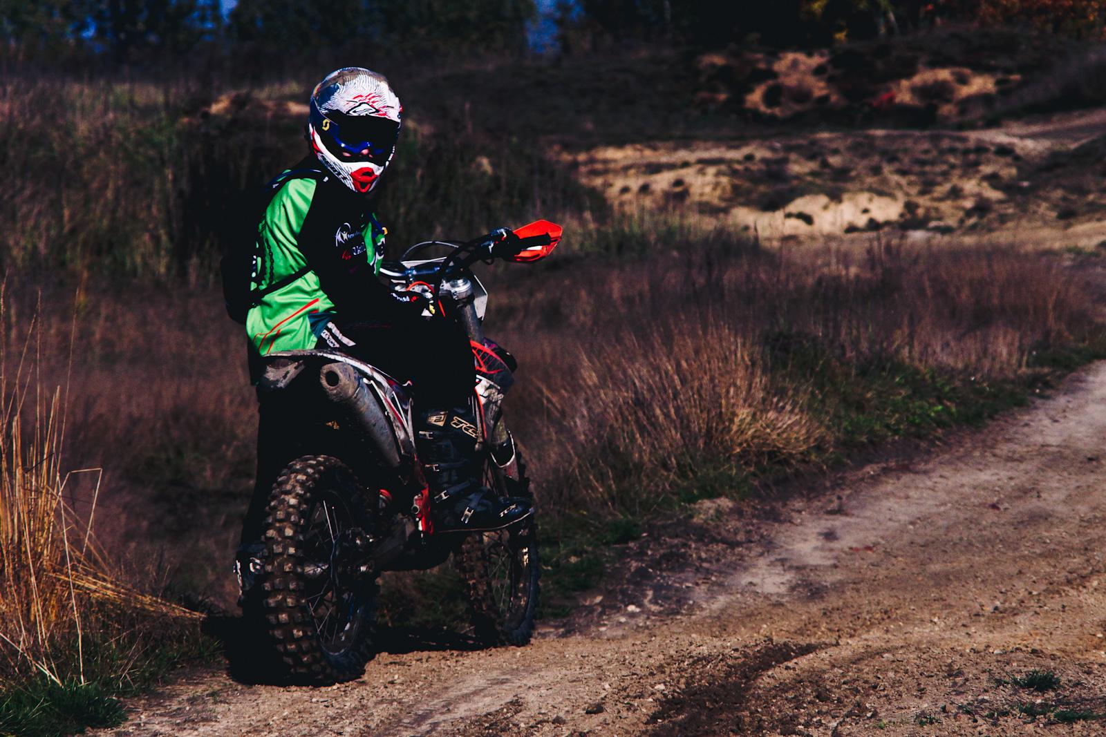 Fotografia sportowa. Motocykle enduro. KTM. fot. Łukasz Cyrus