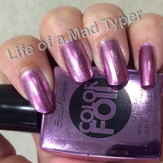 Sally Hansen ColorFoil pink platinum.