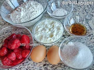 Briose pufoase cu capsuni ingrediente reteta