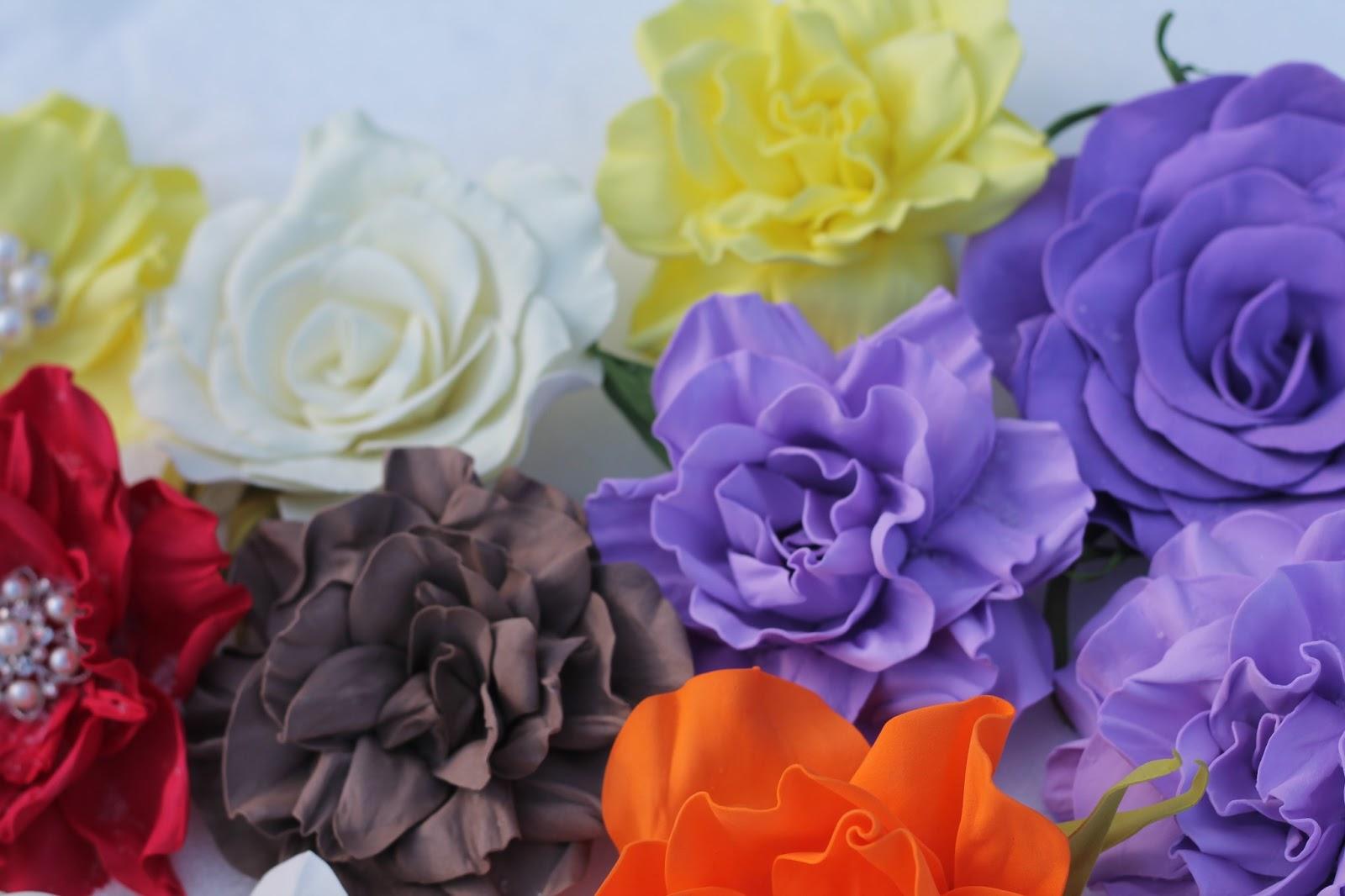 Цветы из ревелюра своими руками