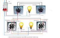 circuito tres encendidos conmutada y doble conmutada