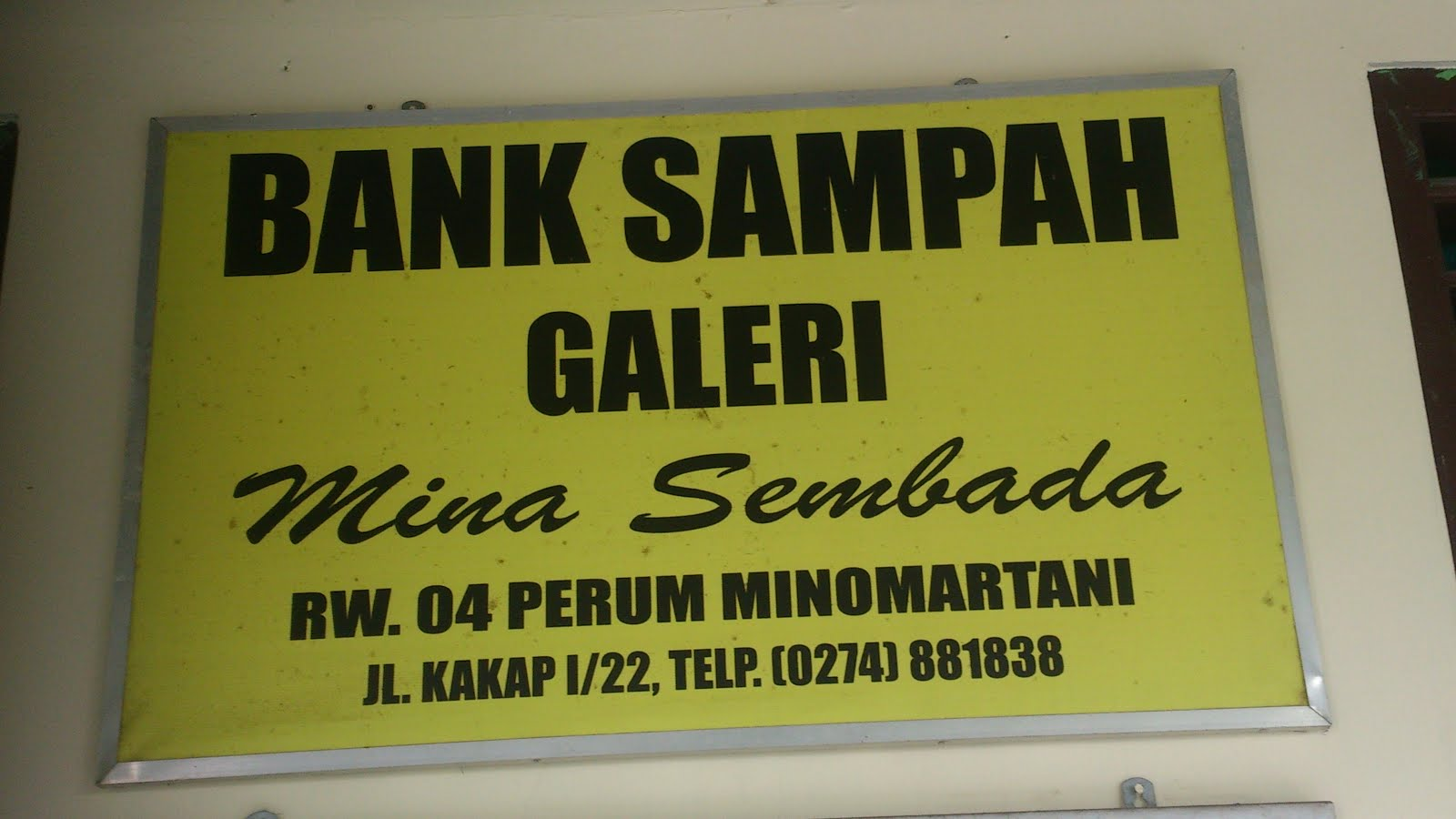 BANK SAMPAH GALERI