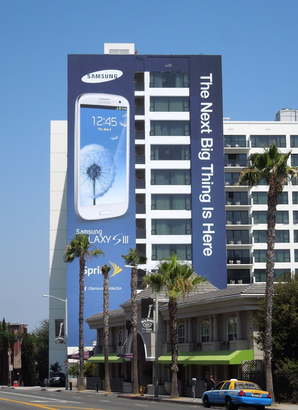 Samsung Galaxy SIII billboard Sunset Boulevard