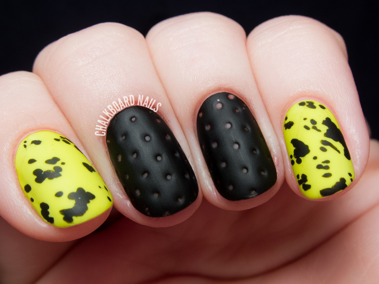 The Lacquer Legion Reinvention: Perforated Leather and Neon Faux ...