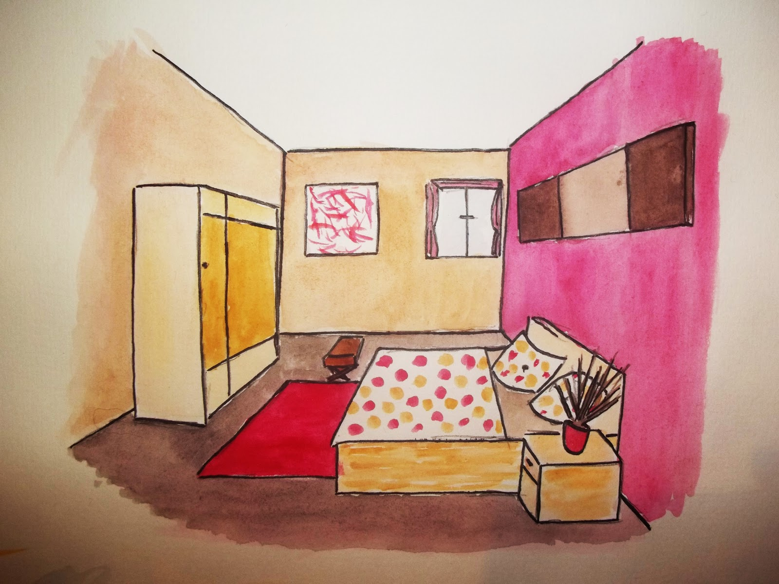 Rhys Harris Interior Design Perspective Drawing