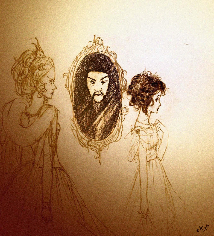 Blancanieves y espejo por Kaliparvati