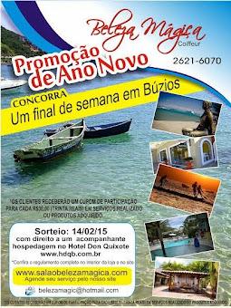 """O Salão Beleza Mágica promove Promoção de Ano Novo """"Um Final de Semana em Búzios-RJ"""""""