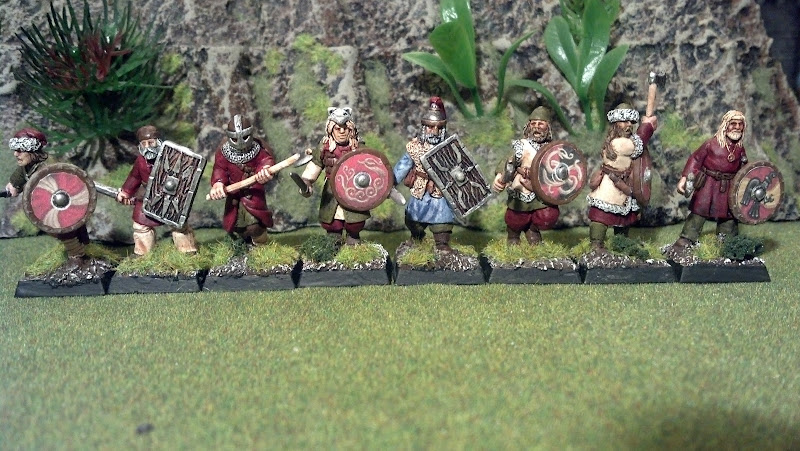 These woad wearing warriors are a mix of wargames factory Bits with  title=