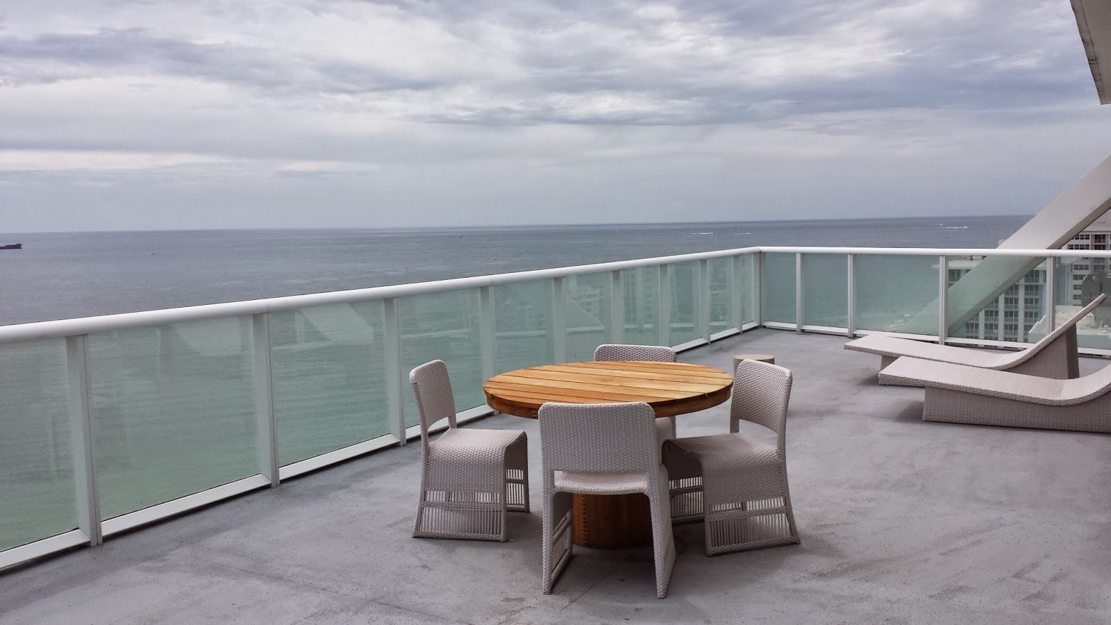 Oceanfront Balcony Of A Sensational Suite At The W Fort Lauderdale