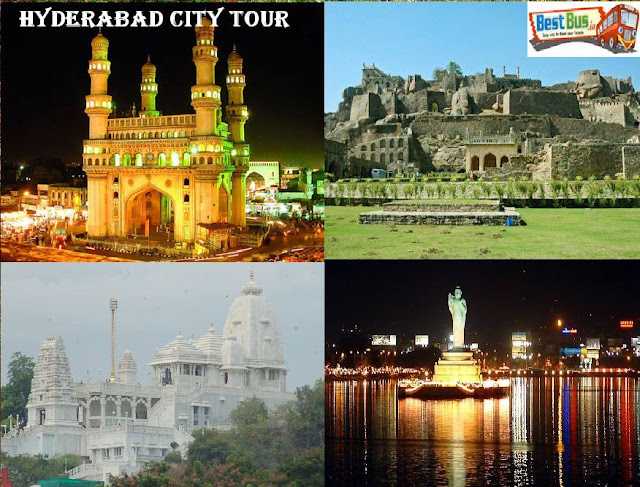 hyderabad  city tour, tourism places in hyderabad, top tourism places in hyderabad, places to visit in hyderabad, book online bus tickets