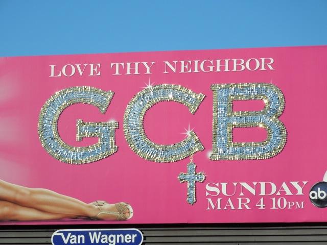 GCB glittery logo billboard