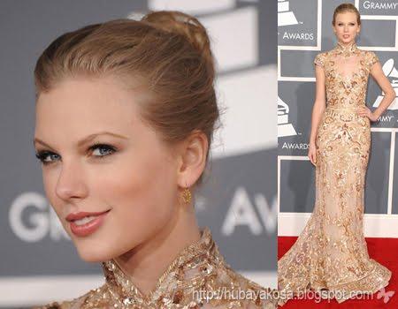 Тейлър Суифт прическа кок Грами 2012