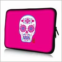 чехол для планшета розовый с черепом
