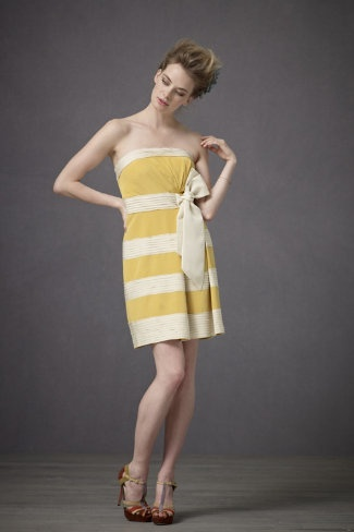 Chic bridesmaid dress august 2013 for Striped bridesmaid dresses wedding