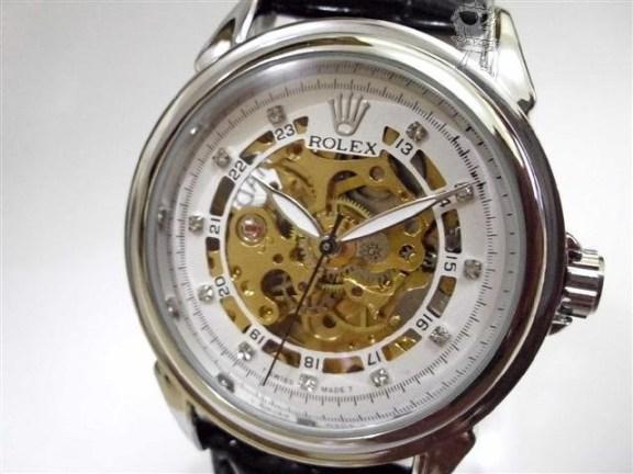 Arloji Jam Tangan Rolex Skeleton