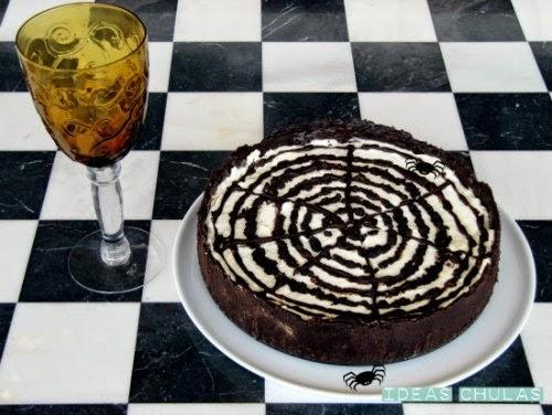 Pastel de Halloween de philadelphia y chocolate